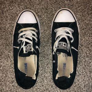 black slip-on converse